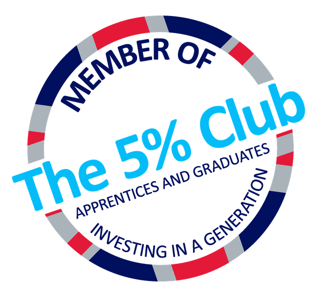 A logo indicating McHugh's membership of the 5 percent club